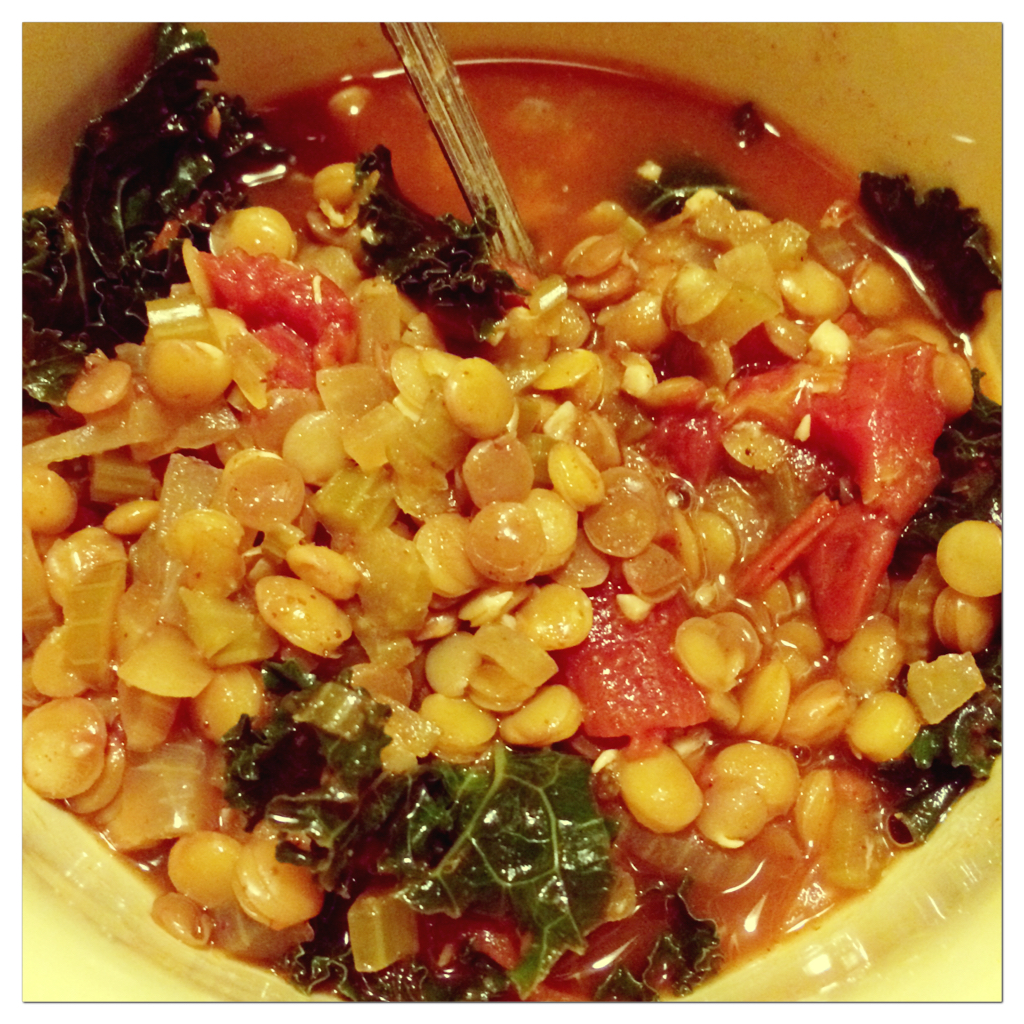 Soup Week – Spiced Red Lentil, Tomato and Kale – Four The Health ...
