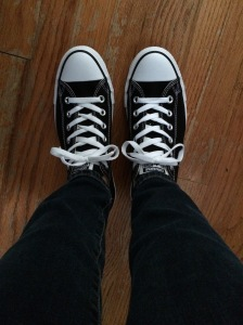 I stepped out of my comfort zone again by purchasing ( and rocking!) my first pair of Converse.