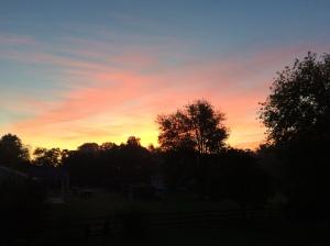 Enjoying beautiful sunrises