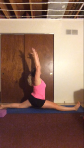 I did my very first split! ( ignore the unfinished ceiling )